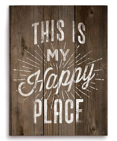 Another great find on #zulily! 'This Is My Happy Place' Wall Art #zulilyfinds