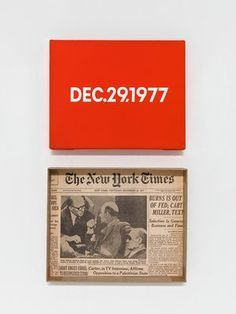 On Kawara - Dec.29.1977, from the 'Today Series'