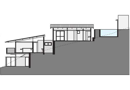 Esta casa se adaptou ao aclive do terreno - Casa