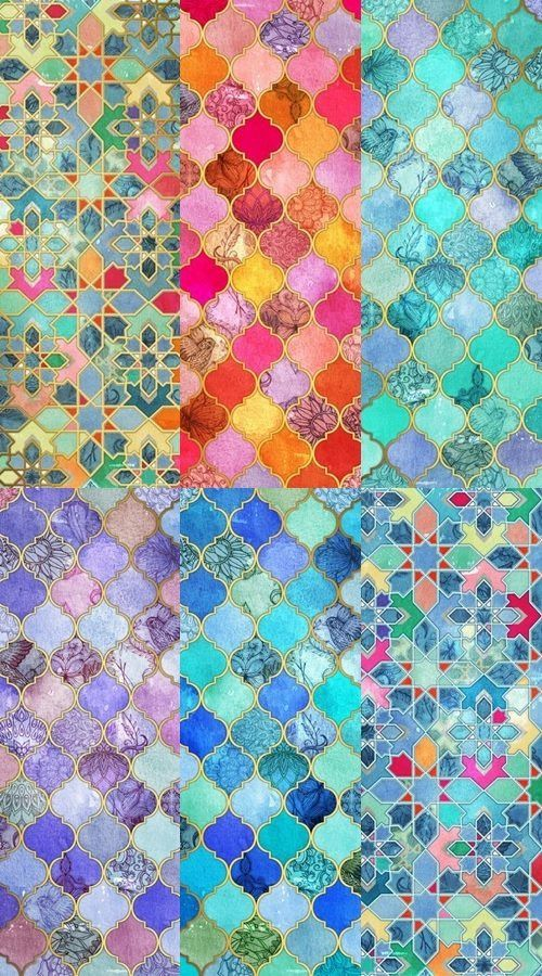 Moroccan tiles.