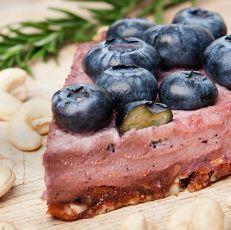Nepečený borůvkový cheesecake s acai