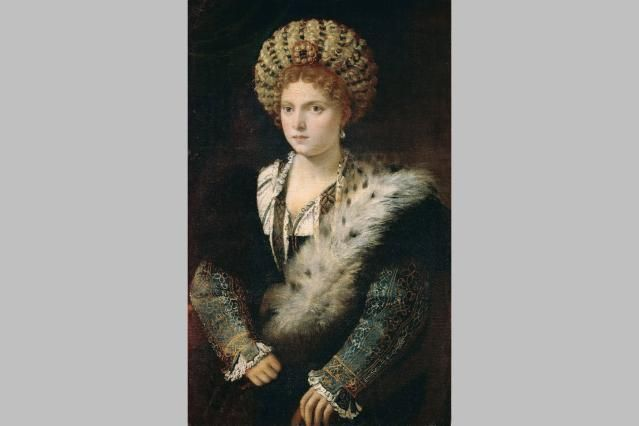 Isabella d'Este, from one family of Italian Renaissance nobility, married into another noble family. She is known from her voluminous correspondence.