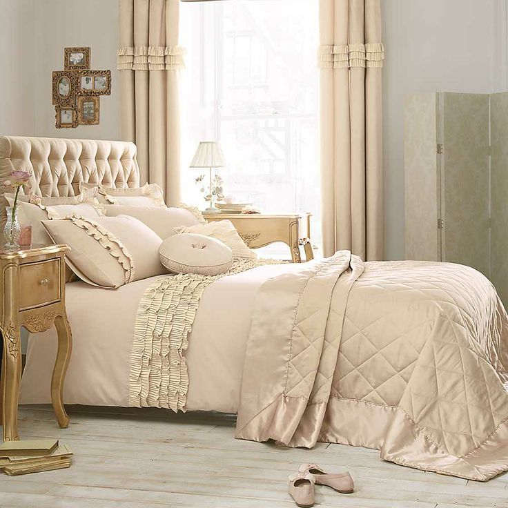Bliss Gold Bed Linen. Elegant and pretty.