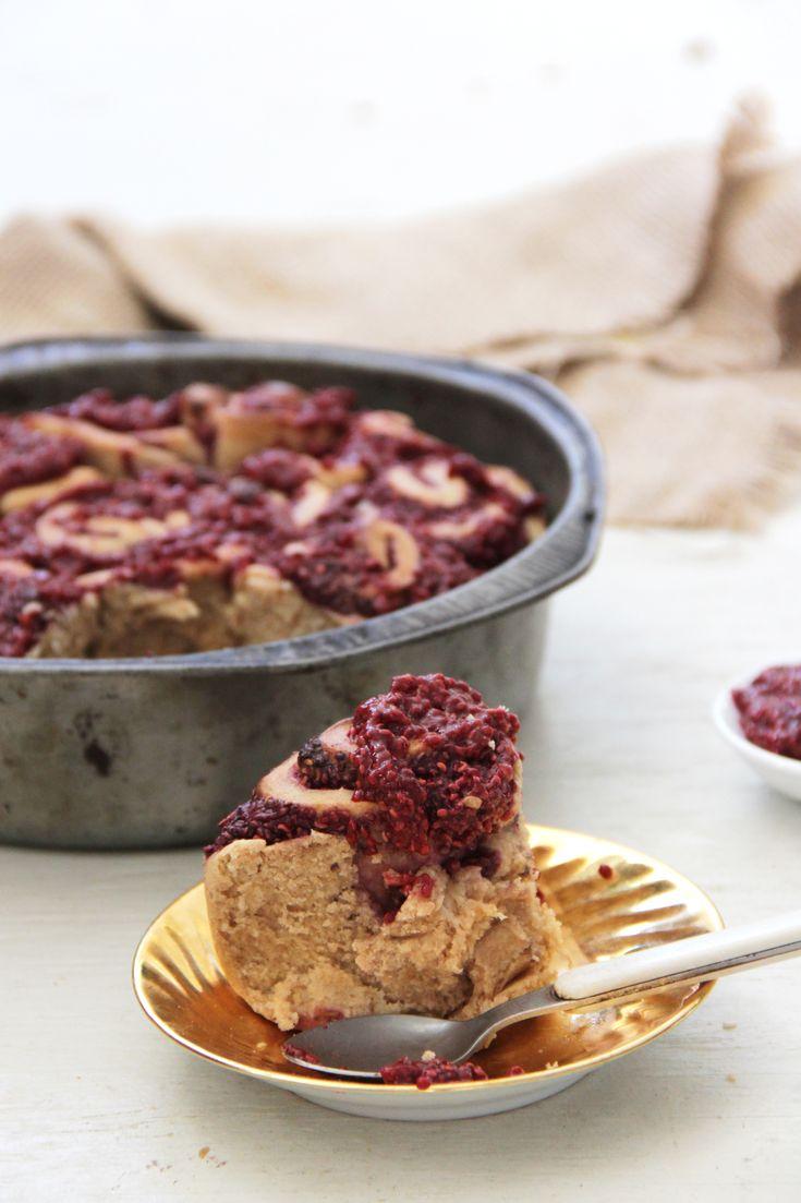 I Quit Sugar - Cardamom + Raspberry Chia Jam Scrolls recipe. #lowfodmap