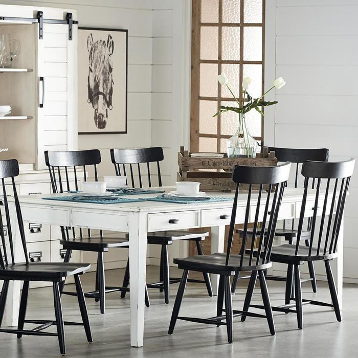 Farmhouse 7' Dining Table in Jo's White   Nebraska Furniture Mart