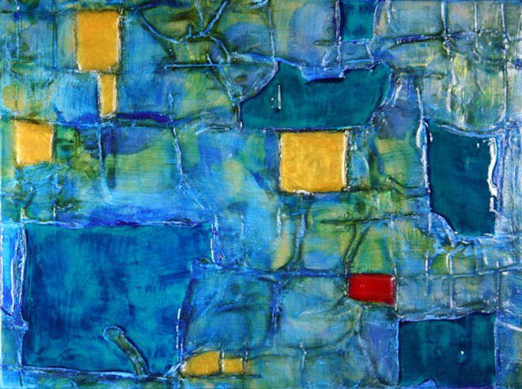 """Piety, Rick Rogers, Mixed Media Acrylic on Wood Panel, 12"""" x 9"""", 2011"""