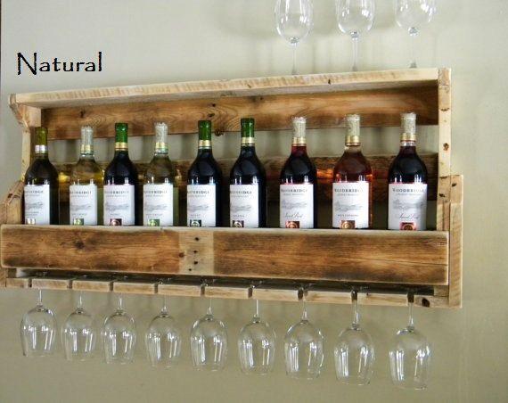 Porte bouteilles de vin uniques récupéré bois par jnmrusticdesigns