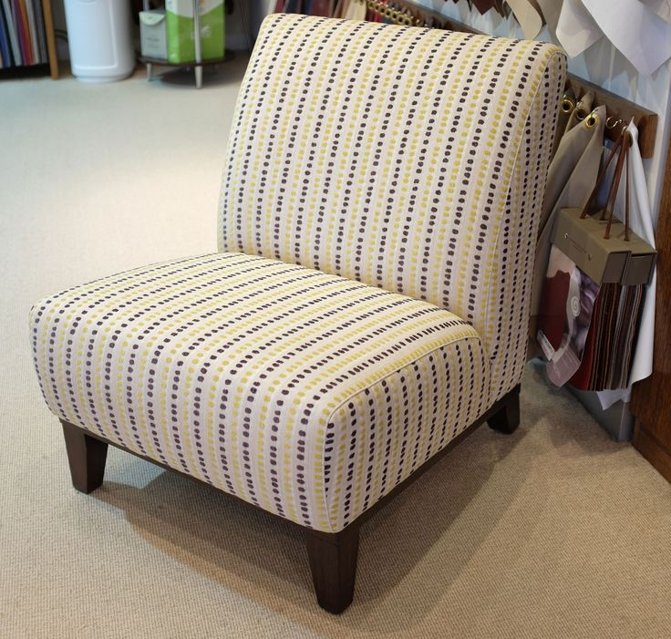 Chair On Display In Our Melbourne Showroom Featuring Dotti Citrus!  #wortleygroup #chair Http