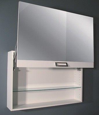 dettagli su specchiera per mobile da bagno 90 in 20 colori luce specchio contenitore arredo