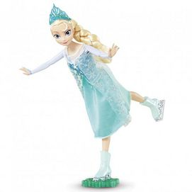 'Elsa' is all dressed up and ready for her skate to celebrate the end of the stormy days. Kids can relive and recreate that magic moment any time with this ice skating doll. With the push of a button Elsa glides gracefully back and forth with arms and legs in perfect position.