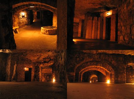 Budapest, Hungary: A labyrinth of caves and tunnels span for miles under Castle Hill. These are believed to date back many centuries and to have been created for military purposes, and were more recently used as an air-raid shelter during World War II. Visitors are now allowed on two kinds of tours: a flashlight tour and fully lit tour.