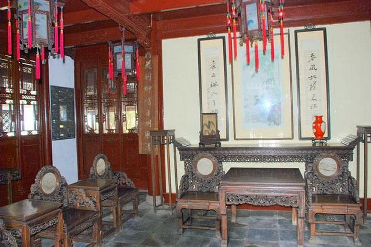 Chiny - Szanghaj, tradycyjne wnętrze