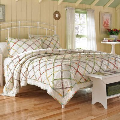 Laura Ashley Home Ruffled Garden Quilt Collection