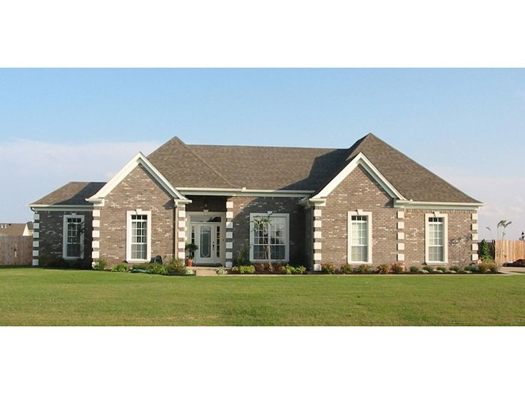 25 best images about brick ranch homes on pinterest for Brick ranch house plans