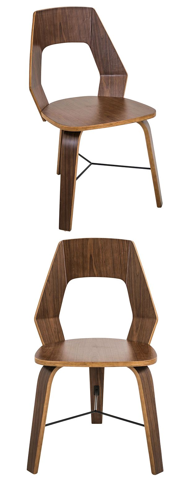 Louis cane back dining chair set of 2 ballard designs - Handsomely Crafted From Walnut Finished Wood The Retro Inspired Geometric