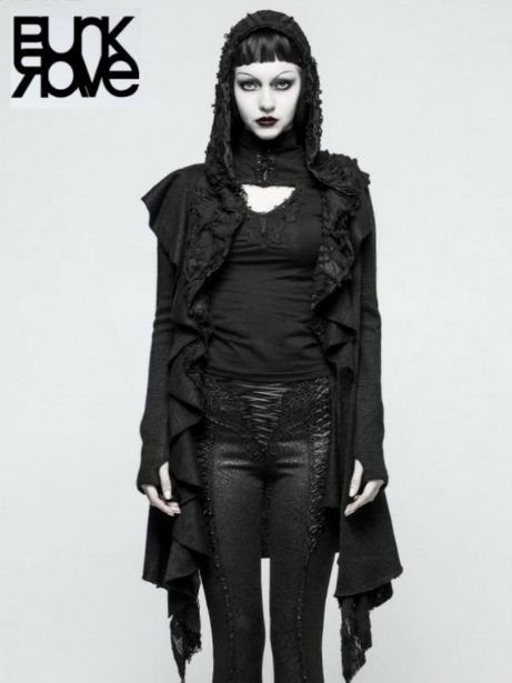 A bit more of an edgy goth look. Presenting you long sleeves LADIES GOTHIC BUTTERFLY SWING SWEATER WITH THUMBHOLES. Be a goth, style as goth. Grab it at- bit.ly/gothicsweater1 make it yours before it runs out of stock!