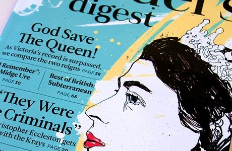 Reader's Digest: Front Cover & Feature Illustration