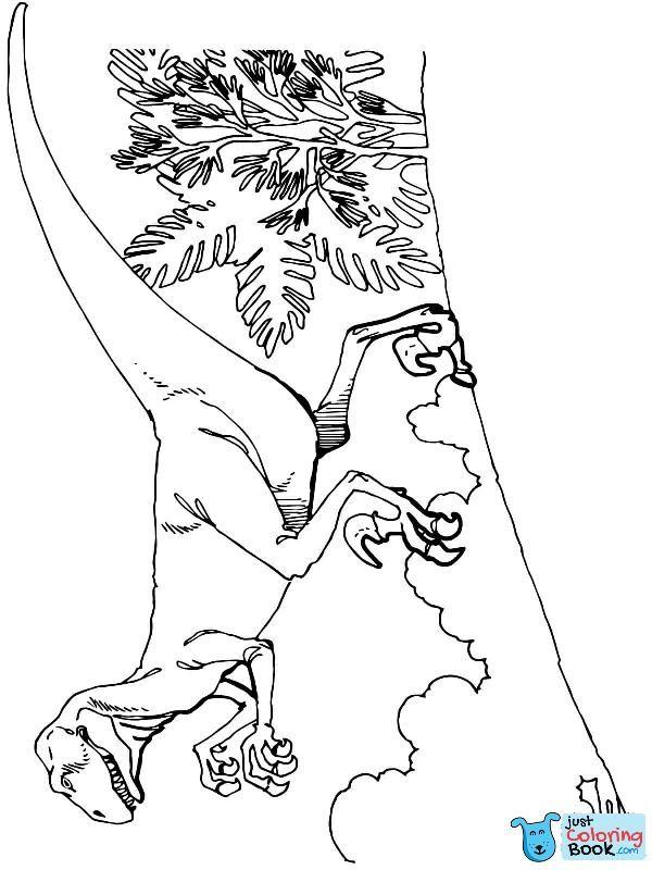 Deinonychus Carnivorous Dromaeosaurid Dinosaurs Coloring Page Free