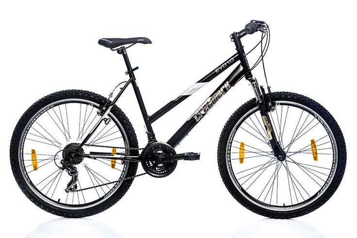 Tretwerk Evo 1.0 26 Zoll Mountainbike Damen Schwarz (2016) Neu Lady Shimano in Sport, Radsport, Fahrräder | eBay!