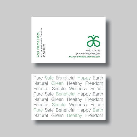 Arbonne carte de visite - excellent pour la publicité Arbonne à votre parti, entreprise à domicile, conférences, donner aux clients, amis, famille et plus !  Cette liste est un fichier numérique pour une carte de visite personnalisée. Cartes de visite sont compatibles avec VistaPrint dimensions (94x58mm).  Vous recevrez votre imprimer des fichiers JPG prêts grâce à votre email personnel dans 1 à 2 jours ouvrables. S'il vous plaît examiner les informations fournies car ils seront créés…