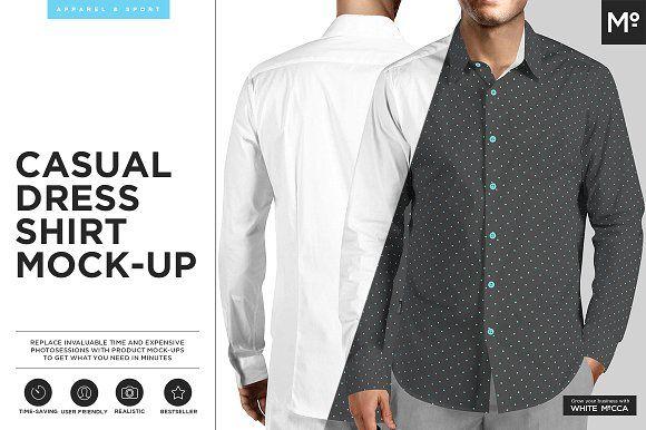 Casual Dress Shirt Mock-up by mesmeriseme.pro on @creativemarket
