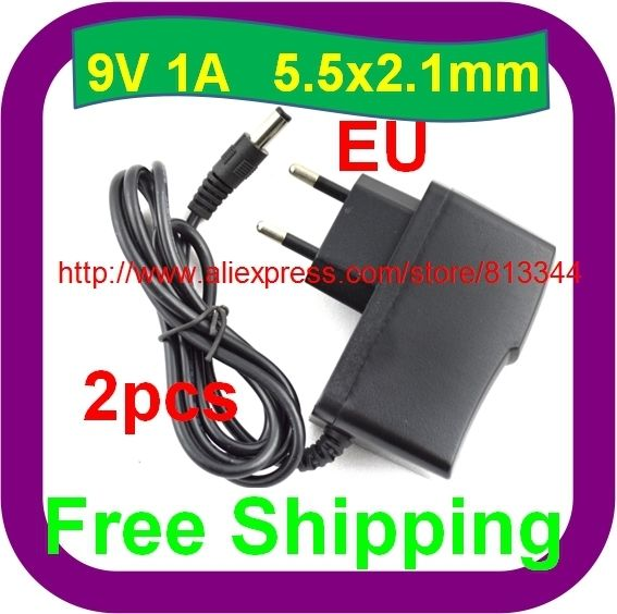 6.64$  Buy here - 2 pcs Free Shipping 9V1A ACDC Power Adapter For Arduino MEGA2560 DUE UNO EU Charger   #aliexpress