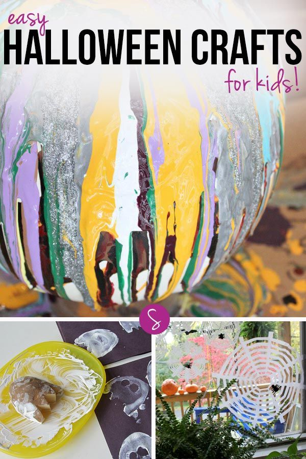 Crafts are another way to develop fine motor skills and creativity and at the end of the session your tot will have created something they can show to daddy or their grandparents. These are some of my favourite Halloween crafts for toddlers and preschoolers