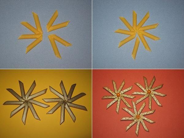 diy christmas crafts christmas tree ornaments pasta stars