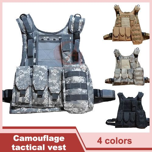 Military Molle Tactical Vest Hunting Camouflage Clothes Outdoor Cs Uniform Steel Wire Vest  HT13-0002