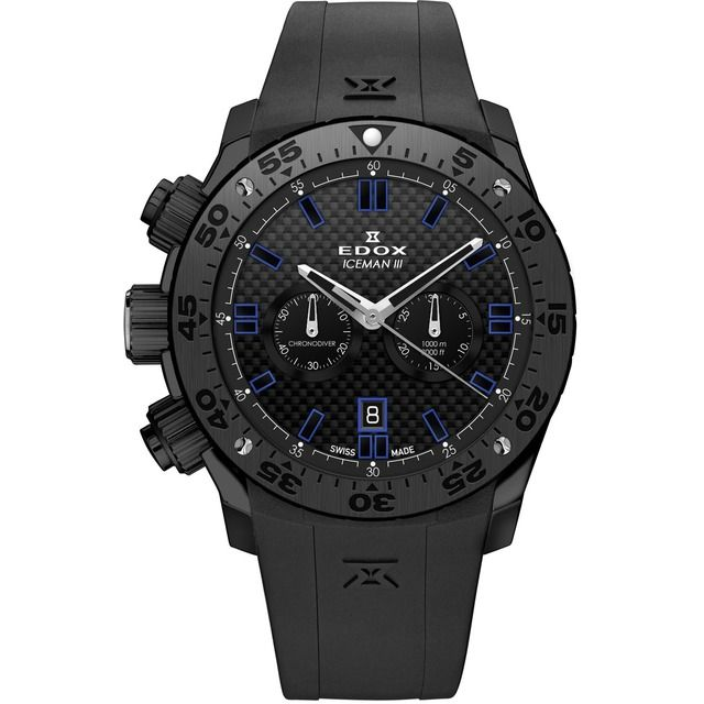 Edox Iceman III Limited Edition Christian Redl Black PVD Steel