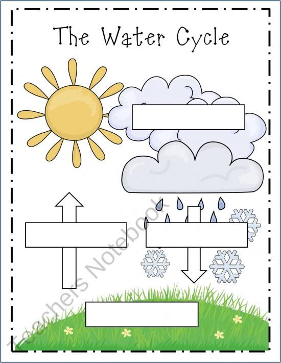 Water Cycle assessment without giving them the blanks! I would use this in the next week after they comprehended the water cycle.