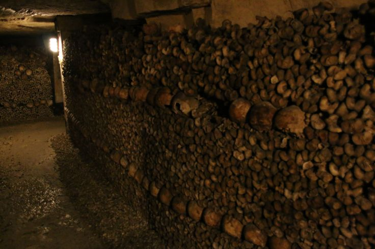 More of the structures built in the Paris Catacombs.