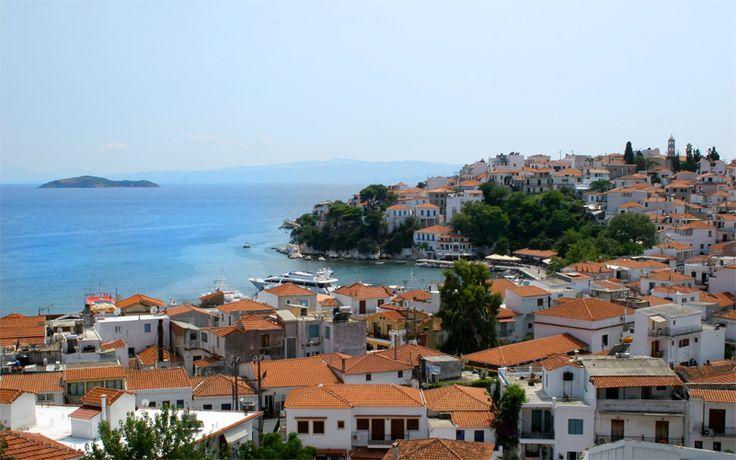 Skiathos island: Town