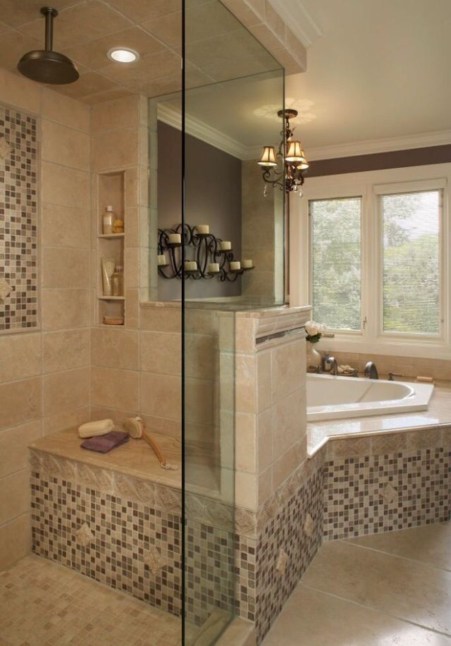 Master bath ideas from my Houzz app.  Home  Bathroom  Pinterest