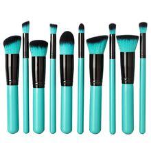 Professional 10 PCS Makeup Brushes Set Cosmetics Facial Foundation Synthetic Hairbrush Women Makeup Tools Kabuki Brushes(China (Mainland))