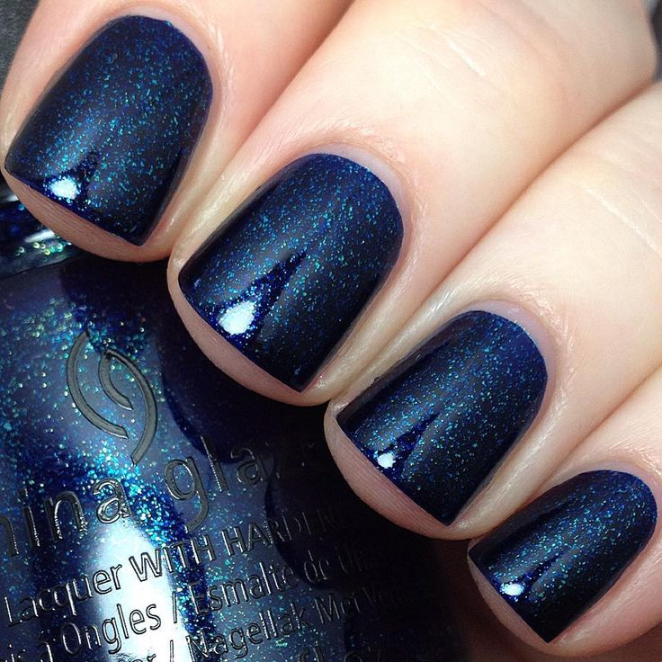 trending dark blue nails ideas