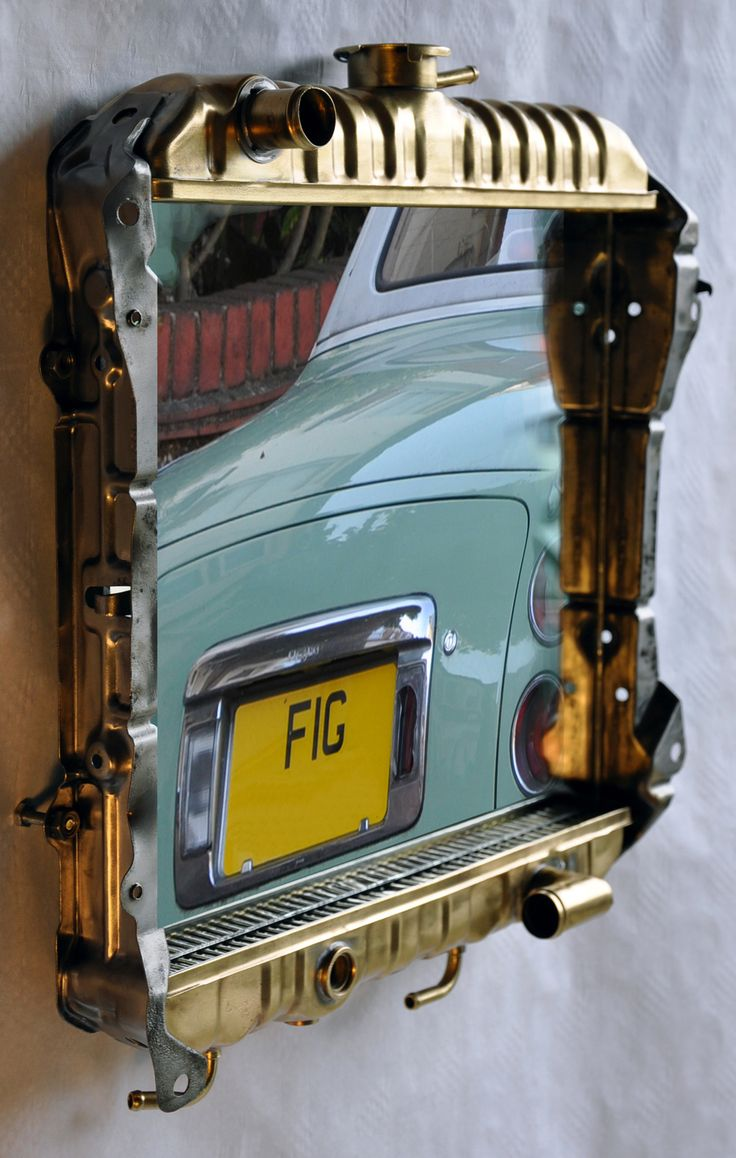 Man Cave Car Decor : Figaro mirror upcycled vintage nissan cooling