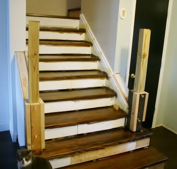 On The Rise; Adding The Stair Risers, Finishing The