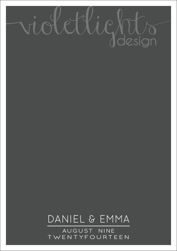 Minimalist Wedding Guestbook Page  Names by VioletLightsDesign, $40.00