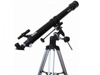 Telescópio Astronômico com Ampliação de 675x - Greika 90070 EQ com Tripé em Alumínio