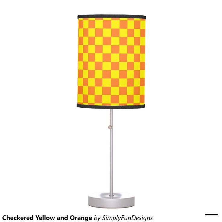 Checkered Yellow and Orange Desk Lamps