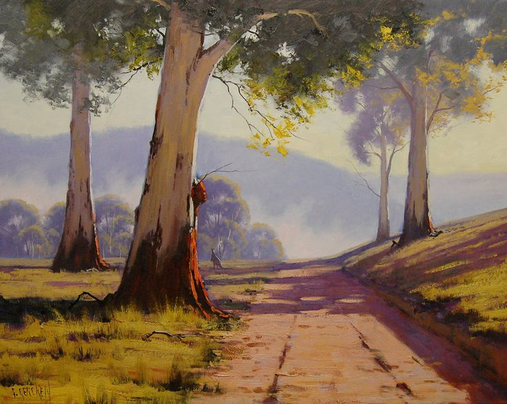 Eucalyptus tree Paintings All my paintings are in Oil on Linen canvas using both brush and palette knife My Originals can be purchased from my website www.landscape-paintings-austra… Commiss...