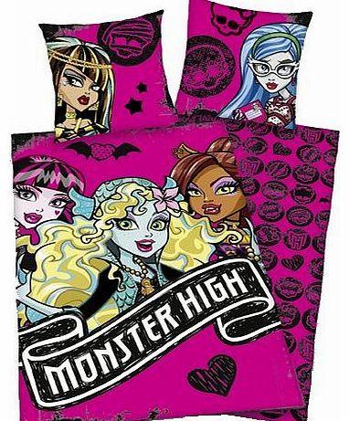 Monster High - Cotton Bedding Monster High 2 (in 80 cm x 80 cm, 135 x 200) Bedclothes Monster High Design: Monster High 2 (Cotton) (Barcode EAN = 4051807177040). http://www.comparestoreprices.co.uk//monster-high--cotton-bedding-monster-high-2-in-80-cm-x-80-cm-135-x-200-.asp