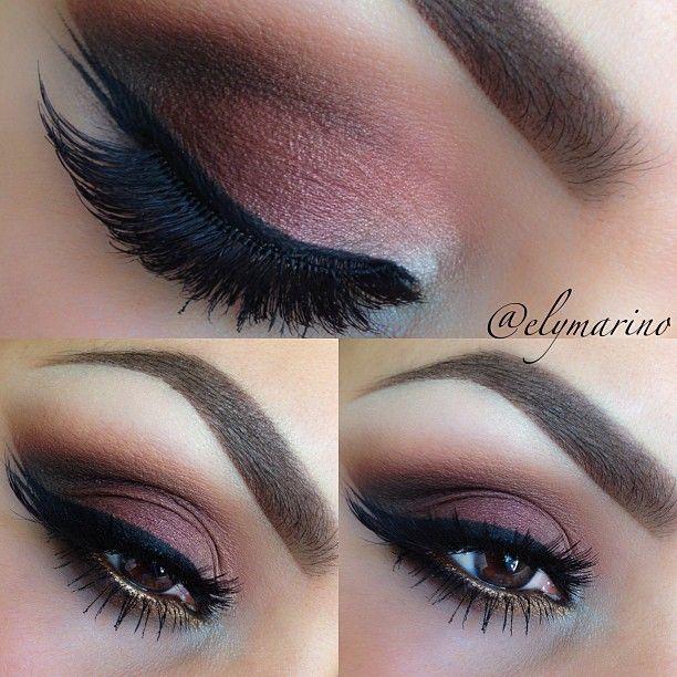 Plum eyeshadow. Gorgeous makeup. Makeup Ideas. Brows