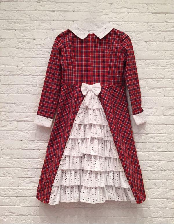 """Платье """"Клеточка и рюшечка"""" - платье, платье для девочки, Платье нарядное, платье для выпускного"""