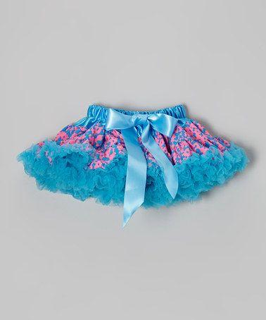 Look at this #zulilyfind! Blue & Hot Pink Graffiti Bow Pettiskirt - Infant, Toddler & Girls by Just For Girls #zulilyfinds