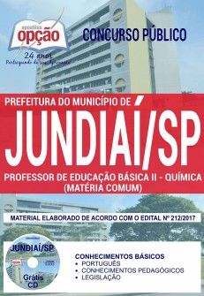 Saiba Mais -  Apostila Concurso Prefeitura de Jundiaí 2017 - PROFESSOR DE EDUCAÇÃO BÁSICA II - QUÍMICA (MATÉRIA COMUM)  #concursos