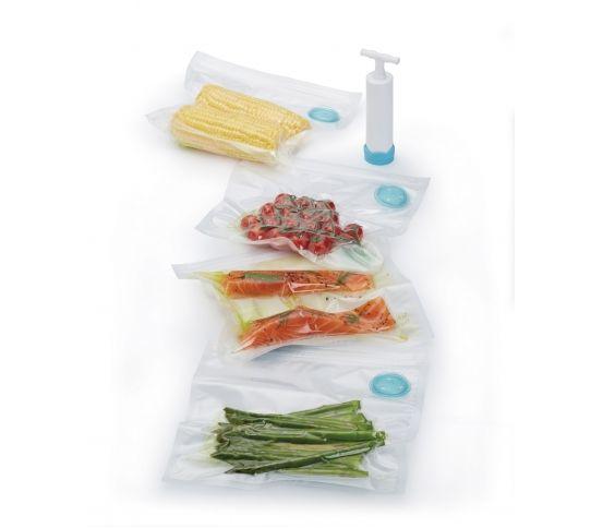 Zestaw do pakowania próżniowego + pompka / Kitchen Craft pakowanie próżniowe, woreczki próżniowe, przechowywanie żywności