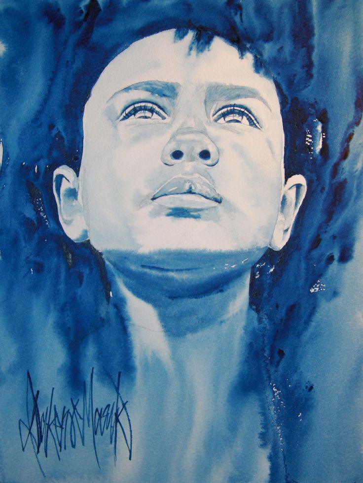 Ezekiel, watercolour by Dakeno Mark, 2015