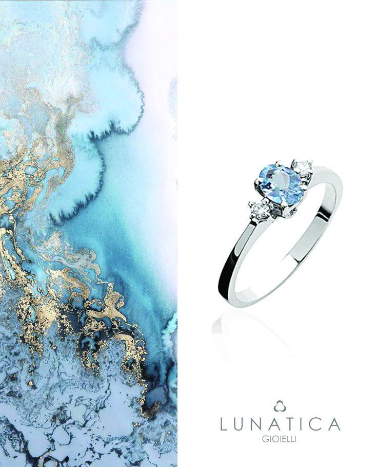 #lunatica #lunaticagioielli #anello #ring #acquamarina #diamanti #colour #basic #collection #precious #preziosi #madeinitaly #handmade #madeinitaly #roma #rome #style #blu #lightblue #texture #composit #shadow #of #blue #18kt #white #gold #gemstone #accessorises #ootd #fashionista #love #pretty #stylish